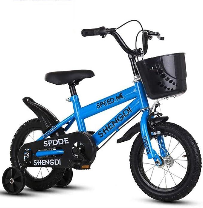 """K-G Bicicleta Infantil Niños de Bicicletas de 2-9 años Bicicleta de Entrenamiento del niño con los Frenos de Las Ruedas auxiliares y Dobles, Son de tamaño 12"""", 14"""", 16"""", 18"""": Amazon.es: Deportes y aire libre"""