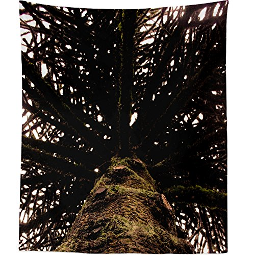 Plant - Wall Hanging Tapestry - Picture Photography Artwork Home Decor Living Room - 68x80 Inch (EBA84) ()