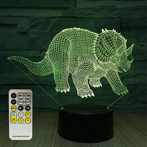 Flyonsea Dinosaur Night Light Kids Night Light With Touch And Remote Control 7 Colors Lamp Holiday And Birthday Gifts Ideas For Children