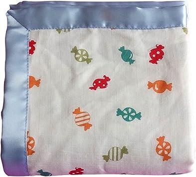 Da Jia Inc 6 capa muselina algodón doble cálido bebé arrullo Manta y toalla de baño de manta para bebé recién nacido blanco candy: Amazon.es: Bebé