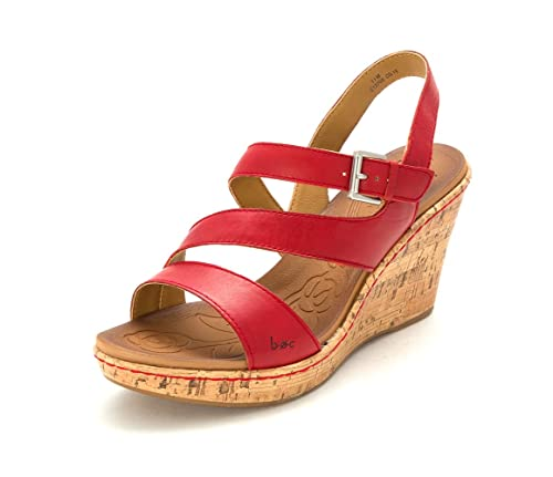 cfe4d78f29d B.O.C. Womens Schirra Open Toe Casual Leather Wedged Sandals