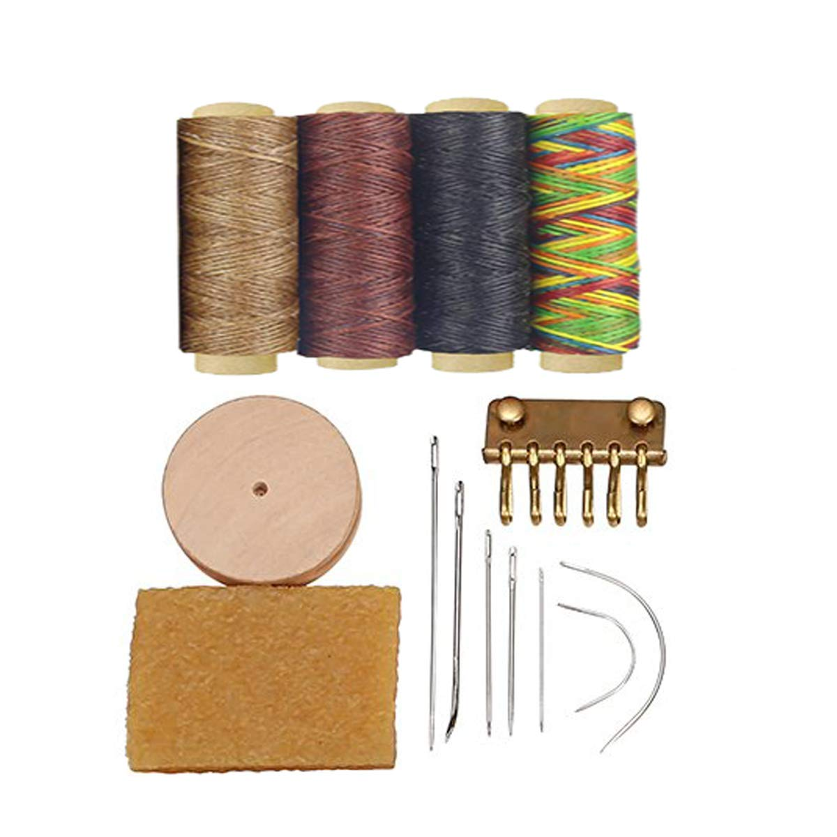 Rivets Kit and Professional Stitching Sewing Tools for DIY Leathercraft Snaps Prong Punch Stitching Groover Leathercraft Working Tools Kit Leather Craft Stamping Tools with Cutting Mat