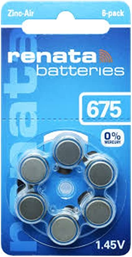 60x Renata Gr 675 Hörgerätebatterien 10x 6er Blister Elektronik