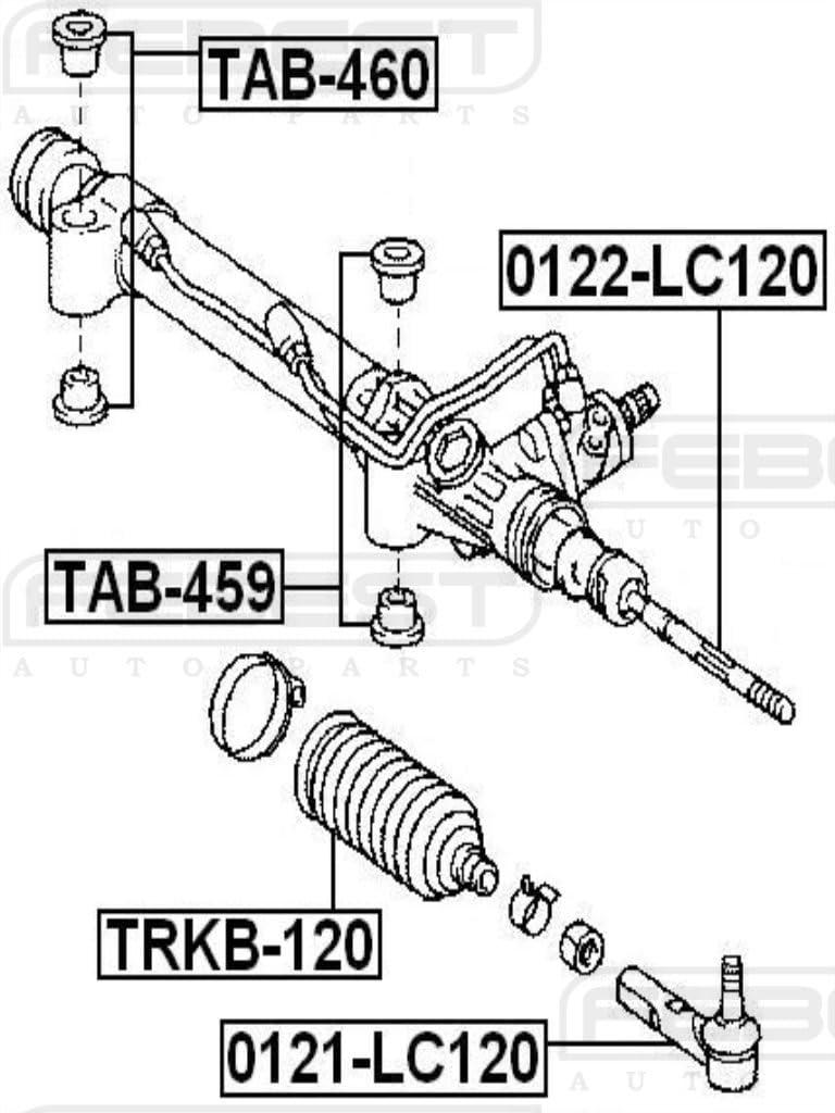 FEBEST TAB-459 Arm Bushing Kit for Steering Gear