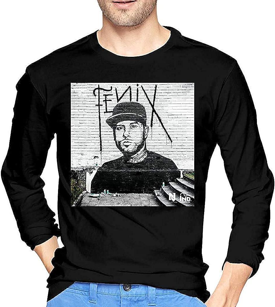 Nicky Jam Novelty Camiseta de Manga Larga para Hombre, Color ...