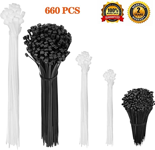 """Black 4/"""" Pack Cable Cord Wire ZIP Ties Straps 4 inch 18LBS Nylon 100 PSC"""
