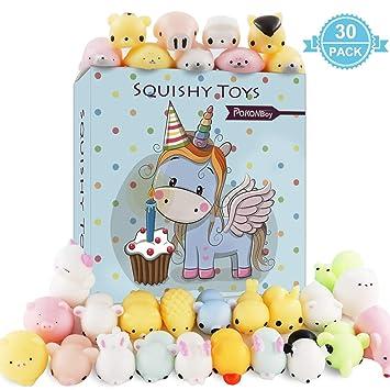 Amazon Com Pokonboy 30 Pcs Mochi Squishy Toys Mini Squishies Slow
