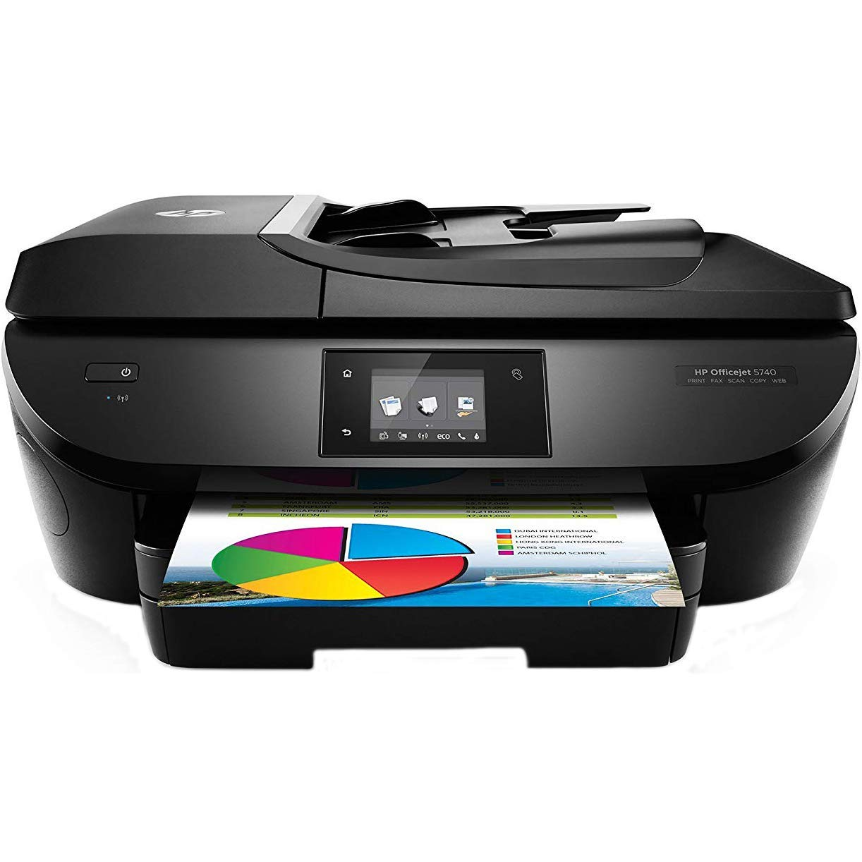 HP OfficeJet 5740 Wireless All-in-One Photo Printer with Mobile Printing, Instant Ink ready (Renewed) by Generic