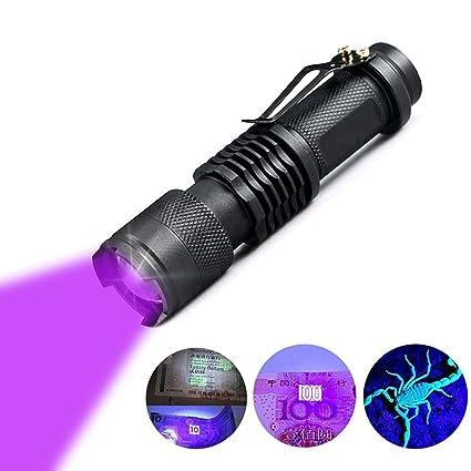 WICHEMI UV Flashlight Black Light Ultraviolet Detector for ...