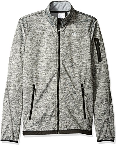 - Champion Men's Bonded Sport Knit Softshell Jacket-Big Sizes, Stealth, XX-Large