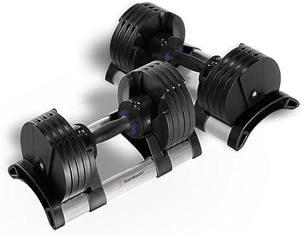 Amazon.com : StairMaster Pair of TwistLock Adjustable Dumbbells (100-Pounds) : Stairmaster Dumbells : Sports & Outdoors