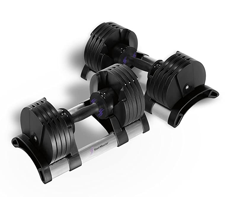 StairMaster Pair Of TwistLock Adjustable Dumbbells (100-Pounds)