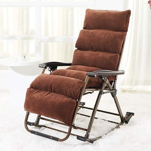 Chair Tumbona balancín ZHAIZHEN para jardín, Patio, Plegable, Estructura de Acero, Tela de textileno, Ideal para Disfrutar de días cálidos de Verano, Ajustable en 3 Posiciones: Amazon.es: Hogar