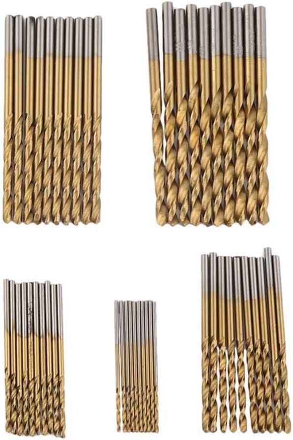 Morza 50PCS 1 mm-3 mm Micro Mini Ronda de caña Brocas HSS de precisión Pequeño Determinado Fresa Espiral de Hierro ángulo de plástico de la carpintería