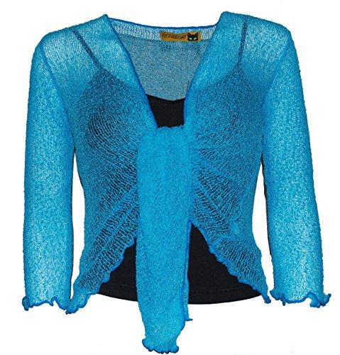 Bolero para mujer, gama de colores Turq Blue - 4