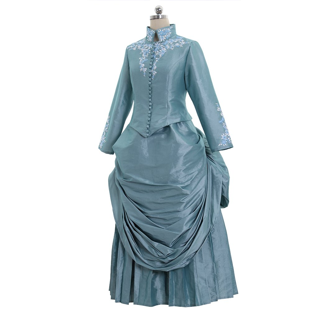 Old Fashioned Dresses | Old Dress Styles 1791s lady Victorian Bustle Gown Dress Medieval Renaissance Minas Bustle $158.20 AT vintagedancer.com
