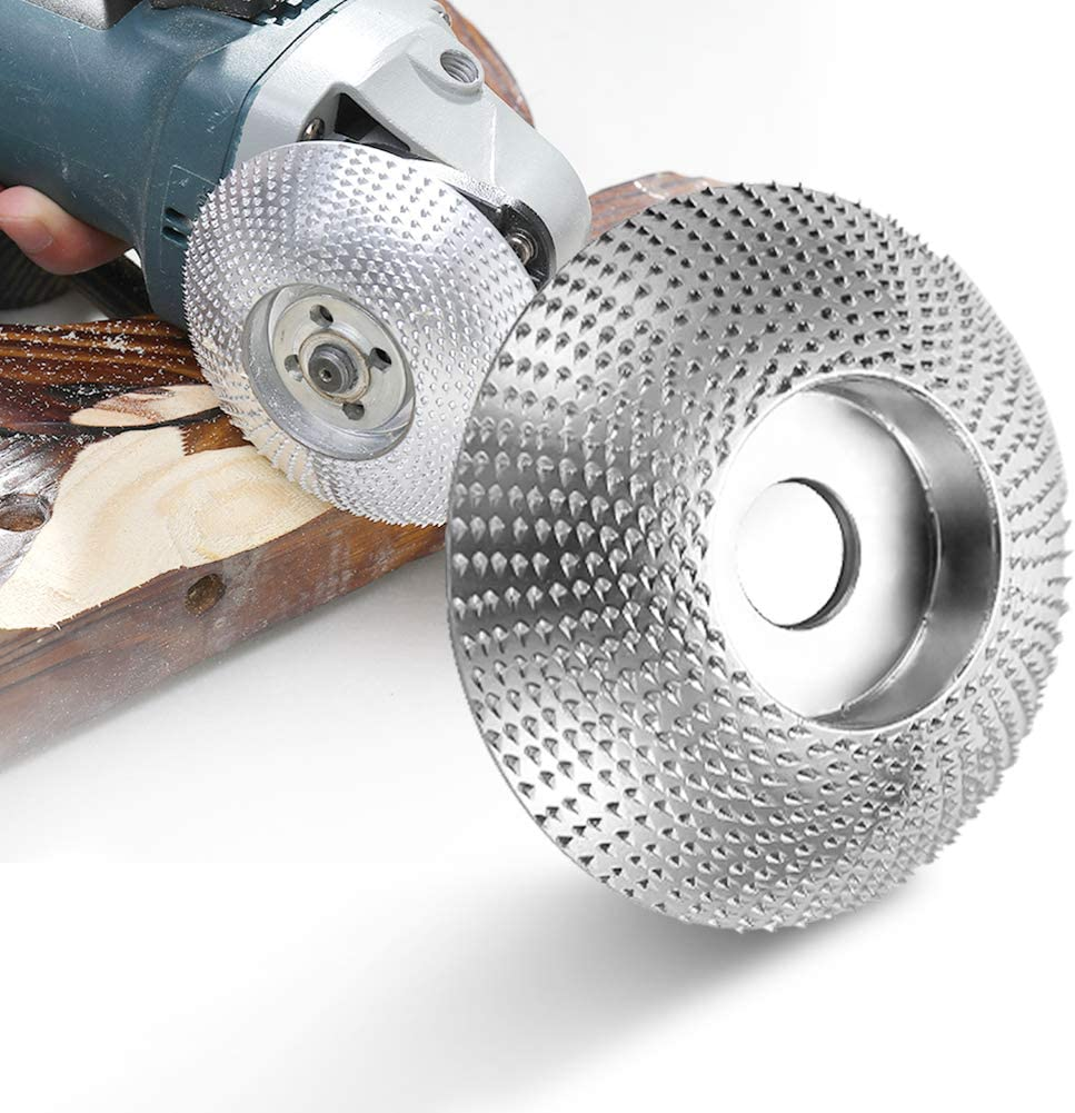 KXA 5//8 Wood Angle Grinding Wheel Sanding Carving Rotary Tool Abrasive Disc for Angle Grinder Tungsten Carbide Coating Bore Shaping