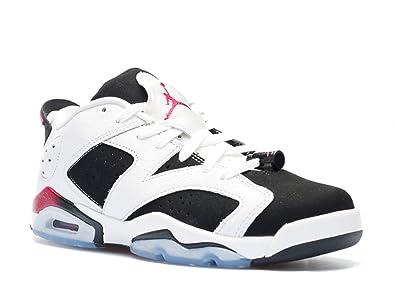 wholesale dealer cd269 cf7e7 Nike Air Jordan 6 Retro Low GG, Youth Basketball Shoes, White/Sport Fuchsia  - Black