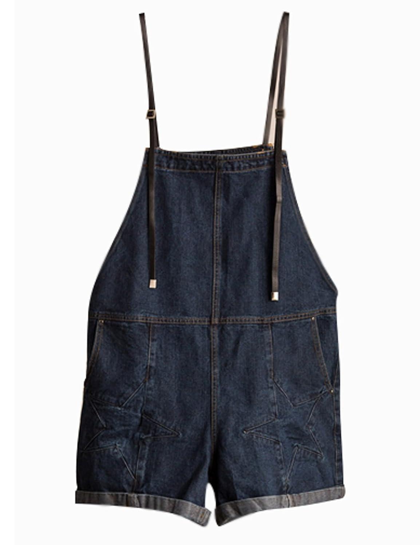 Zoulee Girls Loose Slim Cowboy Jumpsuits Shorts Denim Shorts