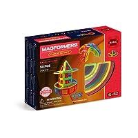 Magformers Curve (50 Piece) Building Set, Rainbow
