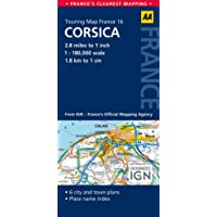 AA Road Map Corsica (AA Touring Map France 16) (Road Map France)