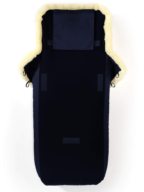 Buggy//Universell f/ür alle Fabrikate//wind- /& wasserabweisend//Mumienform m/öglich//medizinisches Lammfell//Made in Germany Design:navy blue Kinderwagen Hofbrucker Lammfell-Fu/ßsack Luxus f/ür Tragetasche
