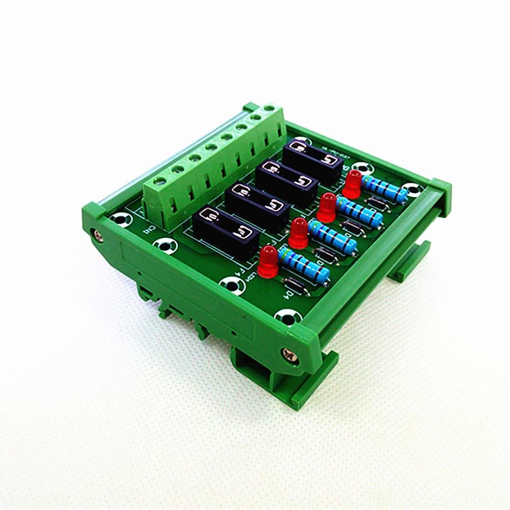 DIN Rail Mount 4 Channel Fuse Module Board,Module Board.