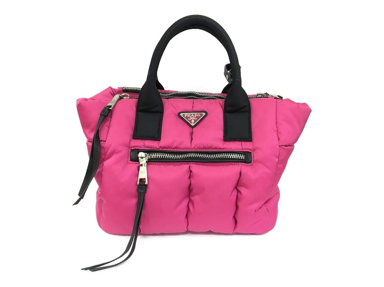 [プラダ] PRADA ボンバーナイロントート 鞄 トートバッグ ピンク ナイロン BN2636 [中古] B07BR86Y9B