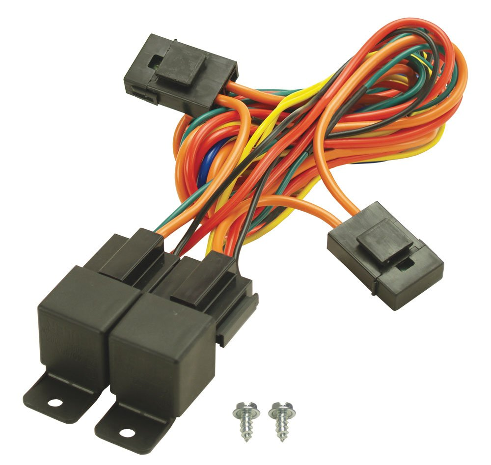 61TUutnYhvL._SL1000_ amazon com derale 16765 electric fan dual relay wire harness radiator fan wiring harness at crackthecode.co