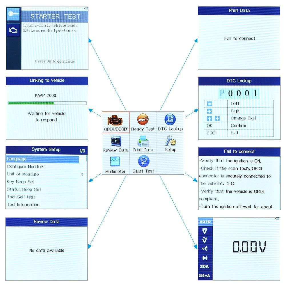 Autel AutoLink AL539B OBD2 Professional Car Diagnostic Tool Code Reader &  Electrical Test Scanner