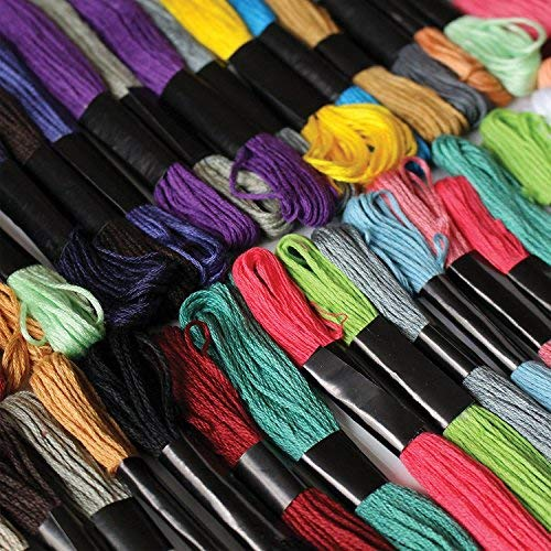 Curtzy Embroidery thread dmc embroidery floss - 8m 100pc Sewing cotton embroidery yarn, assorted color set for cross stitch, knitting, beading, Arts & crafts hand quilting thread - Skeins Pack By MA-3406|it
