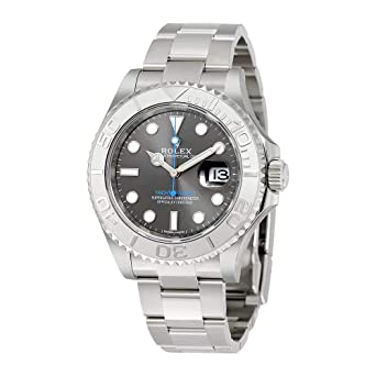 5a3d567a2be Rolex Yacht-Master 40 Dark Platinum Dial Steel Oyster Mens Watch 116622DPLSO