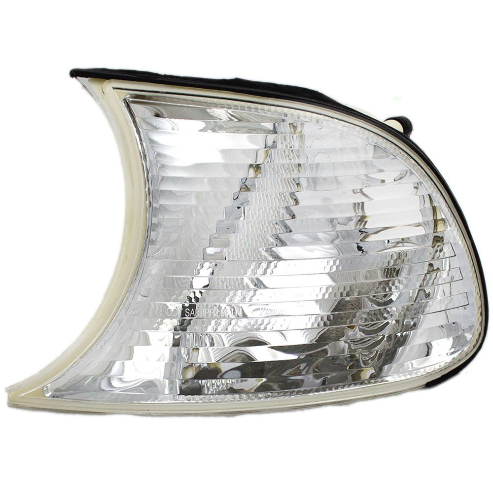 Drivers Park Signal Corner Marker Light Lamp White Lens Replacement for BMW 63137165857