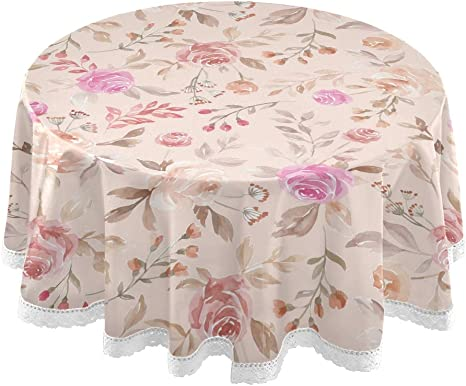 """6pcs 12/"""" round Embroidery Floral Organza Dining Table Bench Coffee table mats"""