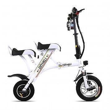 PH pequeño plegable bicicleta eléctrica mini hembra recargable coche macho generación eléctrica doble placa de litio