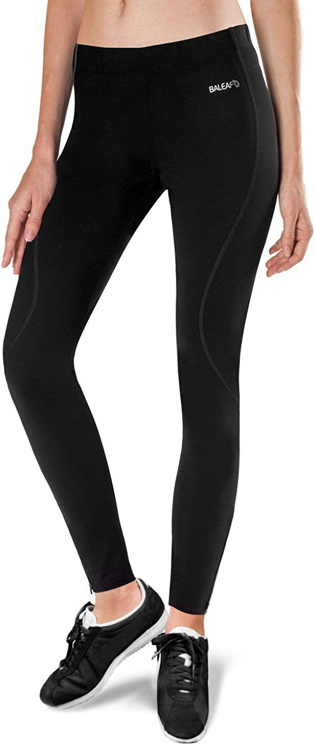 BALEAF Womens Thermal Fleece Running Yoga Cycling Tights Athletic Compression Pants for Hiking//Bike