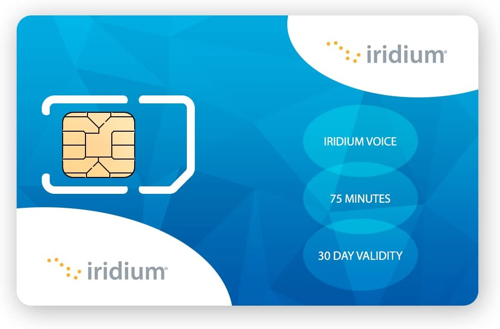 B004AWLTWC Iridium Satellite Phone Global Prepaid SIM Card with 75 Minutes (30 Day Validity) 61TUvtqGqrL