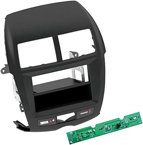 Carmedio Mitsubishi Asx 10 14 1 Din Autoradio Einbauset In Original Plug Play Qualität Mit Antennenadapter Radioanschlusskabel Zubehör Und Radioblende Einbaurahmen Schwarz Navigation