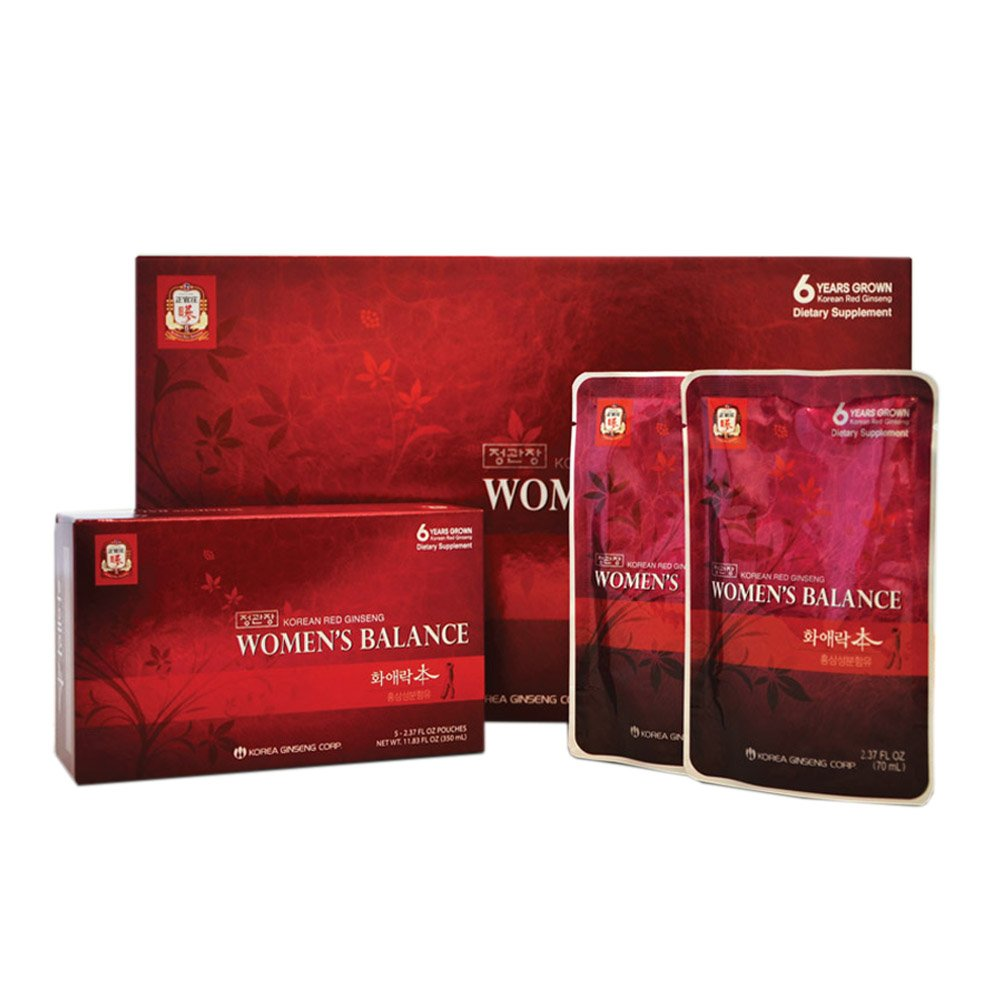 KGC Cheong Kwan Jang [Women's Balance] Portable Ginseng Drink Formulated with Soy, Pomegranate, Cranberry and Lemon Extracts - 30 Drink Pouches
