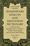 img - for 002: Shakespeare Lexicon and Quotation Dictionary (Volume II, N-Z) book / textbook / text book