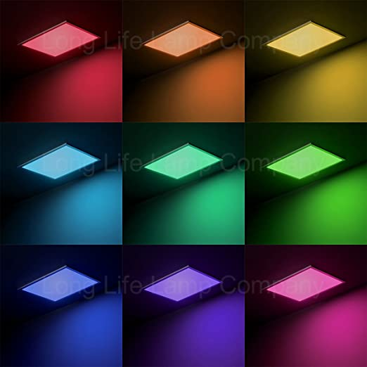 Rgb 40w led ceiling panel colour changing mood light flat 600 x 600 rgb 40w led ceiling panel colour changing mood light flat 600 x 600 includes remote and aloadofball Images