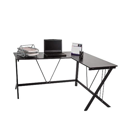 Amazon.com: kinbor L-Shape esquina Oficina computadora Para ...
