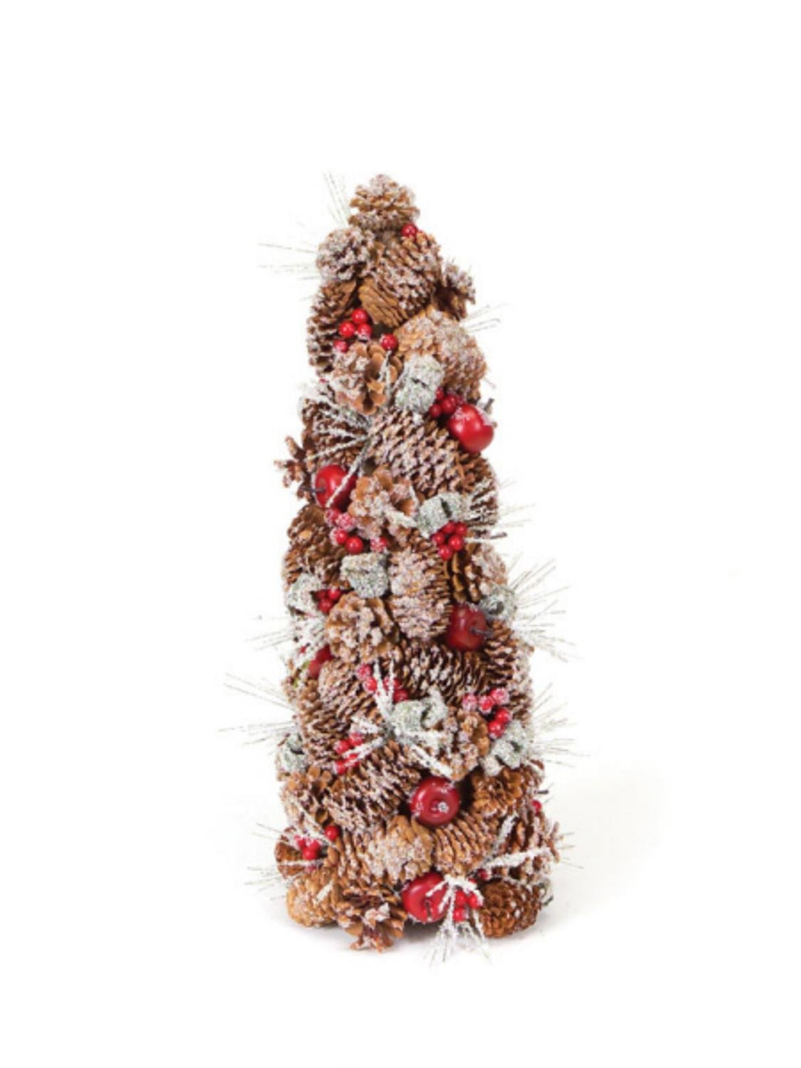 20'' Eco Country Iced Pine Cone Artificial Apple Berry Christmas Tree