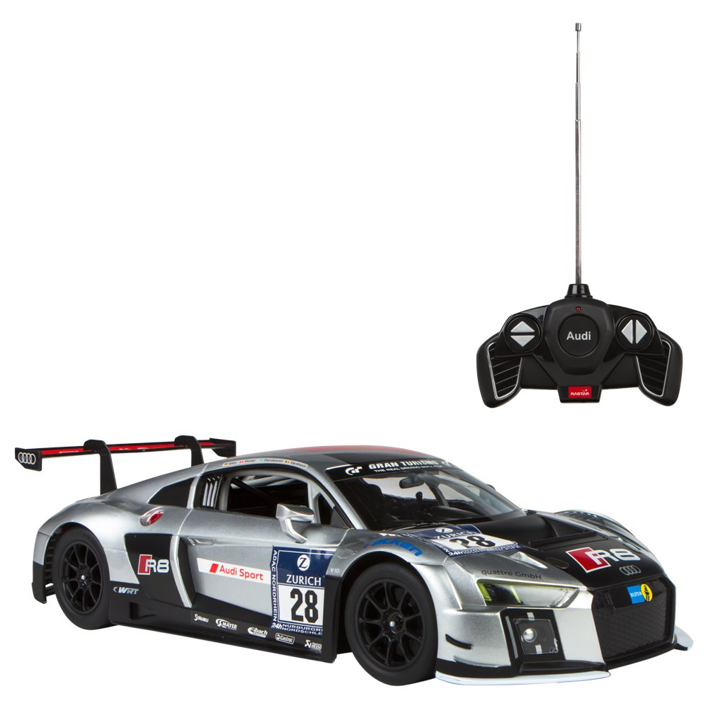 RASTAR Coche teledirigido : Audi R LMS Performance gris And negro Color