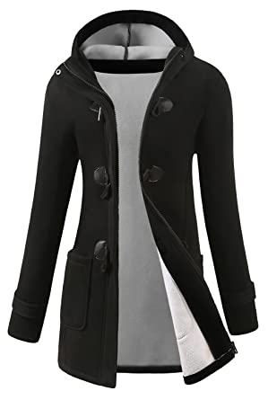 5f0538bd7569 VOGRYE Womens Winter Fashion Outdoor Warm Wool Blended Classic Pea Coat  Jacket (7 Days delivery