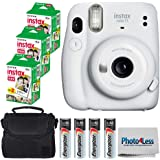 Fujifilm Instax Mini 11 Instant Camera - Ice White (16654798) + 3 Packs Fujifilm Instax Mini Twin Pack Instant Film…