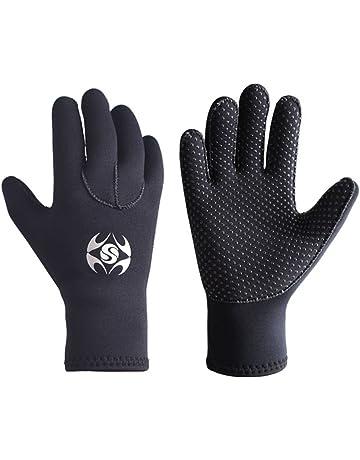 dadbbb042c Slyzone 3mm Neoprene Wetsuit Gloves - Adult Elastic Warm Scuba Diving Glove  - Snorkel Gloves for