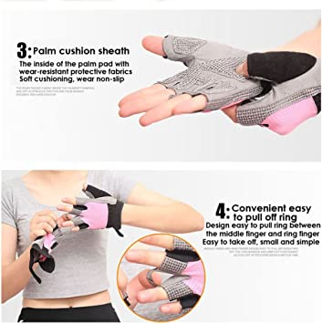 Great for Strength Training Biking and Bodybuilding faddy-1 Gym Gloves Breathable Sport Gloves Training Gloves Non-slip Fingerless Gloves for Men /& Women Weight Lifting