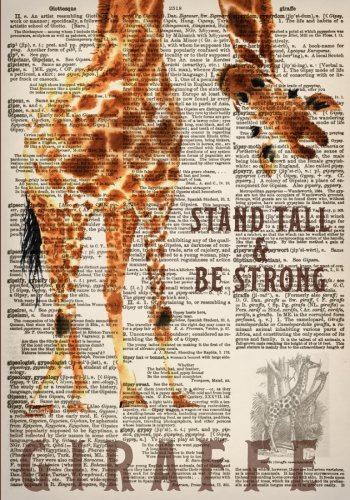 (Watercolor Giraffe Dictionary Art 7x10 Inch Ruled Notebook: Classic Notebook with Stand Tall and Be Strong Inspirational Quote Cover (Cute and ... and Other Gifts for Women and Teen Girls))