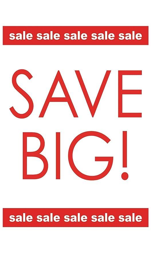 Amazon.com: SSWBasics - Juego de 3 carteles grandes de venta ...
